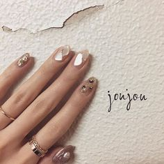Pin by abi gace on claws & polishes ♡ in 2019 Pretty Nail Designs, Nail Art Designs, Love Nails, Pretty Nails, Nail Jewels, Dipped Nails, Japanese Nails, Bling Nails, Easy Nail Art