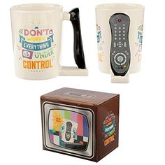 TV Remote Control Shaped handle Ceramic Mug Material - Ceramic Food Safe - Yes Microwave Safe - No Dishwasher Safe - No Dimensions - Height x Office Canteen, Novelty Mugs, Tv Remote Controls, Cool Mugs, Secret Santa Gifts, Office Gifts, Dinner Table, Safe Food, Gifts For Him