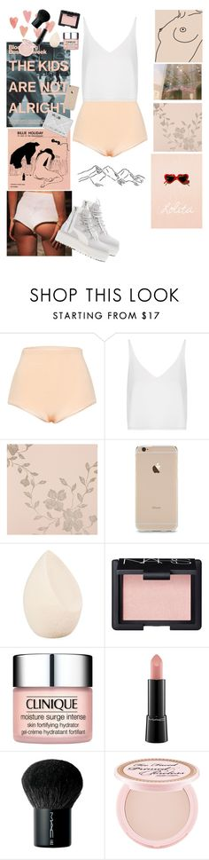 """""""Sin título #86"""" by katemoss00 ❤ liked on Polyvore featuring Lolitta, Topshop, Nina Campbell, Christian Dior, NARS Cosmetics, Clinique, MAC Cosmetics, Too Faced Cosmetics and Puma"""