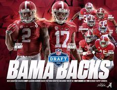 """Crimson Tide FB on Twitter: """"Bama Backs. #RollTide"""" #NFLDraft2016 #NFLDraft #Alabama #RollTide #BuiltByBama #Bama #BamaNation #CrimsonTide #RTR #Tide #RammerJammer"""