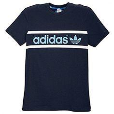 adidas Linear Logo T-Shirt Creepy Kids, 3d T Shirts, Kids Fashion Boy, Blue Adidas, Ottawa, Adidas Originals, Sporty, Logos, Mens Tops