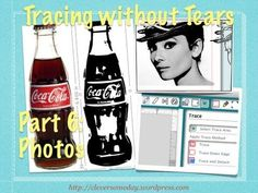 How to trace photos using a unique 2 pass process. Part 6 of Tracing without Tears.