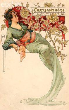 Art Nouveau - Alphonse Mucha I - Socialphy Art Nouveau Mucha, Alphonse Mucha Art, Art Nouveau Poster, Art Nouveau Design, Art And Illustration, Vintage Posters, Vintage Art, Vintage Images, Jugendstil Design