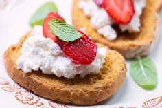 Ricotta is a lower fat cheese alternative, and surprisingly lower in fat than cottage cheese. Not to mention, you'll also be getting a hit of heart-healthy omega-3's. Top your toast with ricotta and strawberries. Simple, but delish.