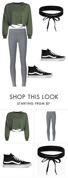 """""""Simple"""" by cheleis ❤ liked on Polyvore featuring WithChic, ATM by Anthony Thomas Melillo, Vans and Boohoo"""