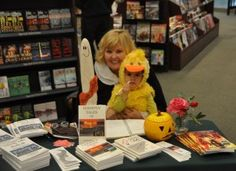 Ava (Wilson) and I signbooks of October 30th at Barnes & Noble in Davenport's Northpark Mall