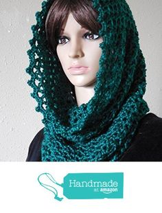 Teal Green Handmade Soft Hooded Cowl Scarf from Entangled Designs https://www.amazon.com/dp/B01DV6GUSU/ref=hnd_sw_r_pi_dp_c7b6xbGGW2FSW #handmadeatamazon