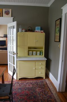 Hoosier Cabinet Colors   ve had this leaf print in my stash for a long time and it seemed ...