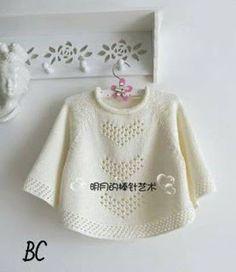Patrón #1690: Camison de Bebe a Dos Agujas #crochet  http://blgs.co/gU57J5