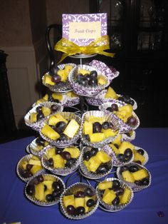 LSU Colored Fruit Cups