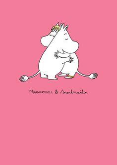 MOOMIN card - LOVE/PINK