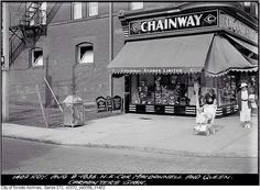 Northeast corner, Macdonnell and Queen, Toronto, August 9, 1935.