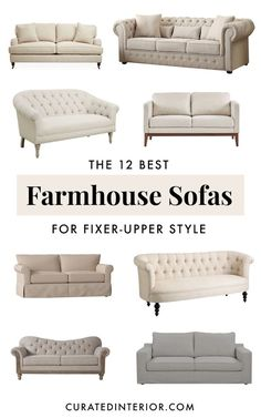 Farmhouse Sofas for ALL Budgets. shopping for a modern Farmhouse style sofa for your living room? Don't miss these gorgeous farmhouse couches for your home. 35 Newest Small Living Room Sofa Beds Apartment Ideas Farmhouse Living Room Furniture, Farmhouse Interior, Living Room Sofa, Sofa Furniture, Home Living Room, Living Room Designs, Farmhouse Sofas, Farmhouse Style, Farmhouse Decor