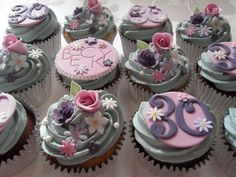 30th Birthday Cupcakes. by Dulcie Blue Bakery, via Flickr