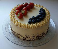 Mascarpone dort s citrónovou chutí recept - TopRecepty. Pie Recipes, Sweet Recipes, Vegan Recipes, Cooking Recipes, Cupcake Cakes, Cupcakes, Hungarian Recipes, Cheesecake, Food And Drink