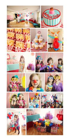 Having a Carnival theme party?  Hang up a red and white striped fabric cloth as a photography backdrop to pull the look together and have a photo booth area that goes with your theme!
