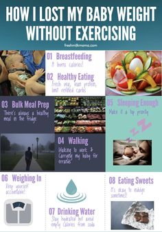 How I lost my baby weight without exercising. Lose baby weight while breastfeeding.