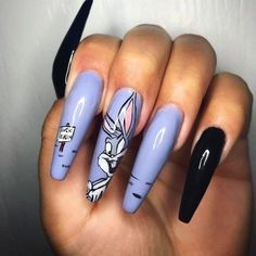 On average, the finger nails grow from 3 to millimeters per month. If it is difficult to change their growth rate, however, it is possible to cheat on their appearance and length through false nails. Disney Acrylic Nails, Disney Nails, Best Acrylic Nails, Fabulous Nails, Gorgeous Nails, Amazing Nails, Stylish Nails, Trendy Nails, Bunny Nails