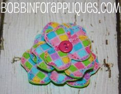 3D Stacked 3 Petal Felt Flower ITH In the Hoop by Bobbin4appliques, $5 ...