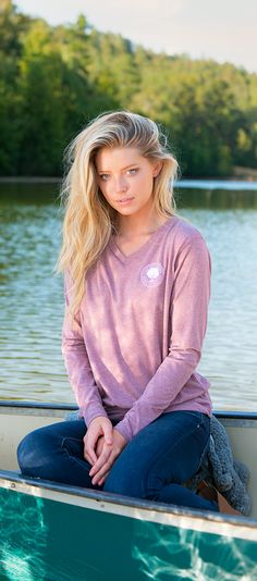 Fall in love with our NEW Heather Vneck LS! #southernshirt