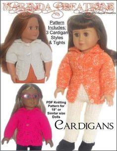 Cardigans For AG and 18'' Dolls
