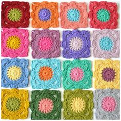 my world of wool: crochet willow granny squares