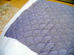 Cindy Needham...... <3 Love all the different ways she quilts a clam shell.