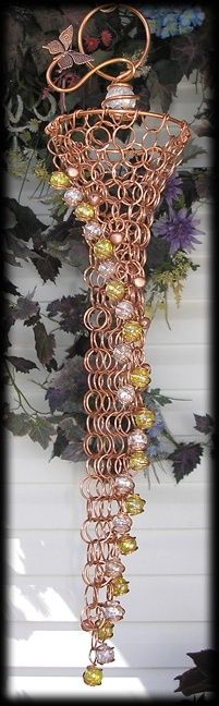 Forever Decorating!: Homemade Rain Chain
