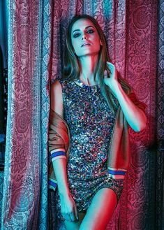 Mixing a sporty jacket with a sequin dress makes for a winning combination for Woman Magazine Spain December 2016 issue