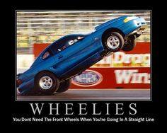 You don't need front wheels when... #Mustang