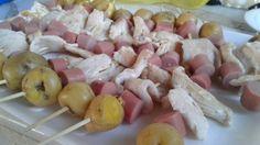 Mini brochetas de pollo!👍