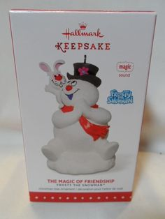 Hallmark Keepsake Frosty The Snowman Magic of Friendship Sound 2015 Ornament for sale online Christmas Tree Ornaments, Christmas Decorations, Holiday Decor, Frosty The Snowmen, Snowman, Hallmark Keepsake Ornaments, Holiday Wishes, Friendship, Magic