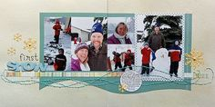 First Snow 2-page LO by Jenny Larson on the Write.Click.Scrapbook. blog