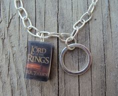 Simple LordOfTheRings Charm Bracelet with Book Charm and Ring Charm