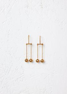 Dot Mobile Earrings in Brass - Fall / Winter Runway 2016   CÉLINE