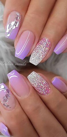 Unha gel com degradê lilás. Super e linda e elegante #unhagel #unhalinda #nailsofinstagram #nails #nailswag