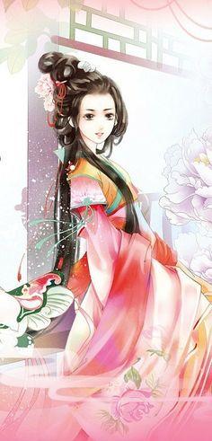 漫画 手绘 插画手绘 插画 美人自古锁……_来自饭饭Rin的图片分享