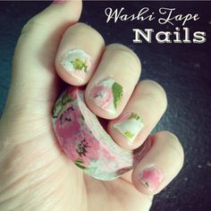Washi tape nail art! So fun!
