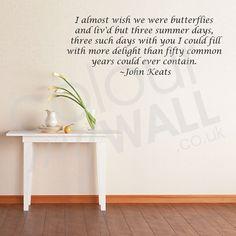 Wish We Were Butterflies