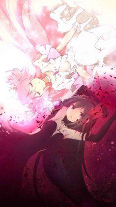 Madoka Magica Kaname Madokami and Akuma Homucifer Got Anime, I Love Anime, Manga Art, Anime Manga, Anime Art, Madoka Magica, Hokusai, Image Manga, Estilo Anime