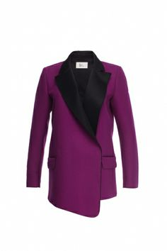 Purple coat with asymmetric front - FrontRowShop