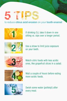 Citrus foods are great for your health but tough on your tooth enamel. Here are some tips on how to keep citrus in your diet while reducing Acid Erosion.