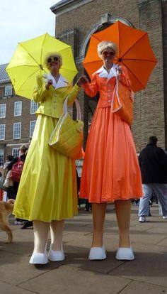 Butterfly Stilt Walkers, Clown Stiltwalkers, Stilt Walking Flowers ...