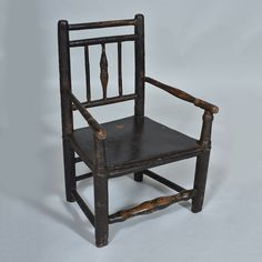 "19th century Child Chair with original paint Width: 17"" / 43 cm Depth: 13"" / 33 cm Height: 23.5"" / 60 cm"