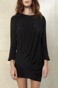 Silk Twist Dress ++ DATURA. Love this.