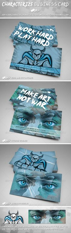 Characterize Business Card #GraphicRiver Characterize – a Photoshop business card template to help you stand out from the crowd! If you are an awesome character artist, or producer of a product with a cool mascot, or even if you make monster movies, then this card will get you started with your promotion! 2 images available on Envato were used for these designs. If you wish to use them, links are included in the download. Alternately, you could add your own graphics instead. Be creative and…