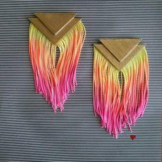 Fun summer fringe earrings https://www.etsy.com/listing/238714397/double-triangle-fringe-earrings-sunrise