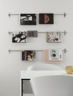 Die perfekte Aufbewahrung für Zeitschriften // perfect magazine and newspaper storage // Hitta Hem #IKEA #HACK