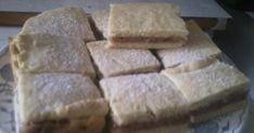 Jednoduchý rychlý jablkový koláč (Milada) Když je úroda jablek umíme je zpracovat... Jablkové řezy Ingredience:  těsto: 600 g pol... Dairy, Bread, Cheese, Food, Brot, Essen, Baking, Meals, Breads