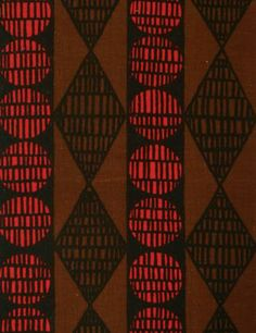 Porin puuvilla Oy design Raili Konttinen 1960-63